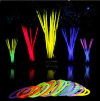 Multi Color Glowing Sticks Bracelet Necklaces Neon Party LED...