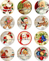 Free shipping Santa Claus christmas Snap button Jewelry Char...