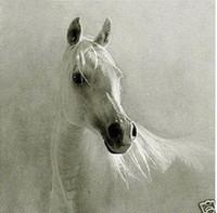 красивый белый конь, чисто расписанную Современный абстрактный декор стены искусства маслом на размер Canvas.customized принято, свободная перевозка груза, али-лучший