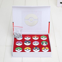 12pcs set Poke Ball Metal Pendant Alloy Action Figures Japan...