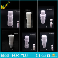 High quality 14mm 18mm domeless Ceramic Nails with heating r...