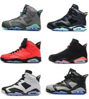 New high quality air retro 6 men Basketball shoes Carmine In...