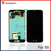 Pour l'Assemblée LCD G900F I9600 G900A Samsung Galaxy S5 Affichage écran tactile Digitizer Avec Bouton Accueil Flex Remplacement