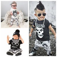2017 New Fashion Cotton Baby Boys Girls Clothes short sleeve...