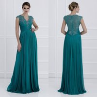 2017 New Elegant Teal Green Long Mother of the Bridesmaid Dr...