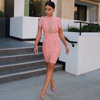 hot sale 2016 New women summer dress sexry Mesh High Neck Ba...