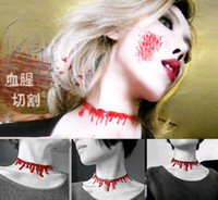 2016 New Choker Necklace Halloween Horror Blood Drip Necklac...