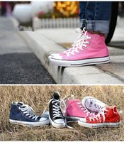 2016 Factory price canvas shoes women and men, high Low Styl...