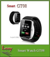 GT08 Bluetooth Smartwatch Smart Watch pour iPhone IOS Samsung Galaxy Android Smartphone Podomètre Surveillance du sommeil NFC