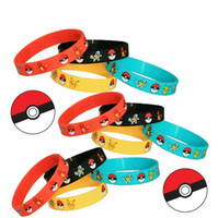 Poke браслеты Pocket Monster 4 цвета Силиконовые браслеты Мягкие силиконовые браслеты Детские Дети Аниме Подарки