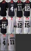 Women NIK Game Football Raiders Blank #4 Carr #11 Sebastian ...