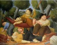 Партизан, 100% Handpainted Романтическое искусство FERNANDO BOTERO Картина маслом на Высокое качество Толстый Холст для Декор стены в Multi Size