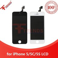 Blanc LCD Noir Affichage tactile Digitizer écran complet avec Full Frame Remplacement de montage pour iPhone 6 5 5S 100% testé