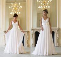 Strapless Wedding Dresses V- Neck A Line Sheer Neck Wedding G...