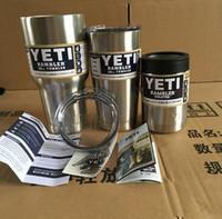 YETI 30 oz Stainless Tumbler 20 oz 12 oz Yeti Coolers Sports Cup Tasses grande capacité tasse en acier inoxydable Outdoor Hydratation vitesse Free Ship