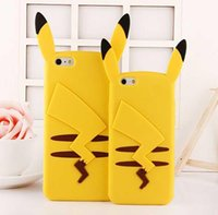 3D Poke Pikachu Soft Silicone cell phone Case For Iphone 6 6...