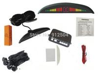 LED gros-Wholesae 50piece / lot voiture affichage numérique BIBI capteur couleur Parking radar de recul Alarme de secours N ° 302