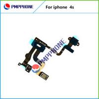 bonne qualité Proximité puissance Capteur de lumière Flex câble ruban pour Apple iphone 4s Pièces de rechange Livraison gratuite