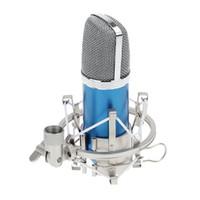 Condensateur Microphone d'enregistrement sonore avec microphone Shock Mount 3.5mm Câble audio mousse pour ordinateur portable Radio Studio I772