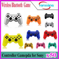 50pcs Contrôleur Bluetooth sans fil de haute qualité pour Sony Playstation 3 PS3 Une variété de choix de couleur ZY-PS-03
