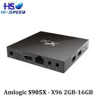 50PCS X96 s905x 2GB 16GB android 6. 0 Marshmallow tv box Amlo...