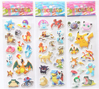 Poke Pokémon go Pikachu 3D Stickers new Children cartoon Pik...