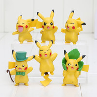 6pcs lot Cute Cartoon Poke mon Pikachu Mini Action Figures D...