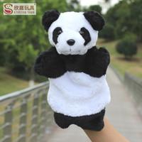 10pcs lot New 25cm Hand puppets Chinese national treasure pa...