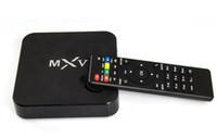 MXV Android 4.4 TV BOX MXQ Amlogic S805 Quad Core Contex A5 1.5GHZ Mali-450 Kodi 2.4GHZ Wifi Media Player