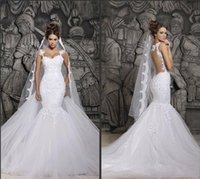 2016 New wedding Dresses Spaghetti Strap mermaid wedding Gow...