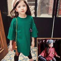 2016 Autumn Korean Children Girls Tassel Solid Pagoda Sleeve...