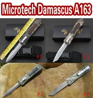 Factory direct microtech NEW troodon A163 damascus knives ca...