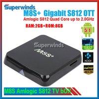 M8S + M8S plus Android5.1 TV Box Amlogic S812 Quad-Core 2.4G5G Wifi 2 Go / 8 Go H.265 Gigabit Lan Bluetooth 4.0 DHL gratuit
