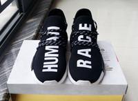 Hot sale NMD Human Race Running Shoes Men Women Pharrell Wil...