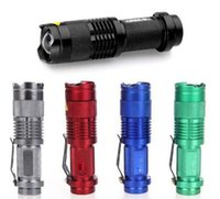 CREE Q5 coloré Flash Light 7W 300LM CREE Q5 LED 3-Mode Camping torche Mise au point réglable Zoom lampe de poche étanche Lampe