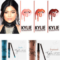 Kylie Lip Kit brillant mat rouge à lèvres Kylie Jenner Lipstick Lasting couleurs de maquillage Marque non-bâton tasse ligne labiale 23 couleurs