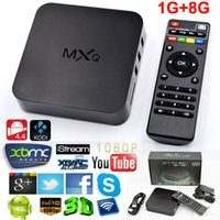 MXQ TV Box Коди / XBMC Quad Core Amlogic S805 Android 4.4 Smart TV Box Media Player 1080P HDMI WiFi 1G / 8G USB H.265 / HEVC телеприставок