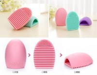 Egg Cleaning Glove MakeUp Washing Brush Scrubber Board Cosme...