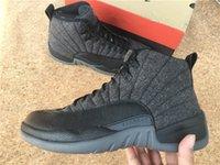 Jumpman 12 Retro WOOL Black High Top Men Basketball Sneakers...