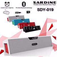 SDY-019 Bluetooth Mini alto-falantes de alta fidelidade sem fio alto-falante alto-falante estéreo com tela LCD Digital Amplifier FM TF SD Handsfree MIC USB