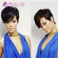 Short Brazilian Hair Wigs For Black Women Natural Color Silk...