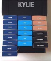 2016 nuevo Kylie kit boxset labio Velvetine Liquid Matte Lipstick y Lipliner muertos de la libertad Skylie caballero expuestos 12 colores