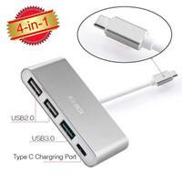 KITBOX USB- C Type C to 2xUSB2. 0 1xUSB3. 0 Type- C Hub PD Charg...