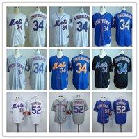 Best Stitched Mets New York #34 Noah Snydergaard Jersey Whol...