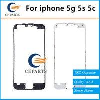Black / White écran LCD écran tactile cadre pour iPhone 5 5G 5S 5C avant support cadre support avec 3M Adhésif