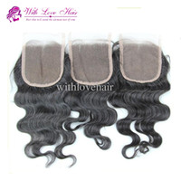 "Free Shipping Lace Closure Body Wave Indian Hair 10"" - 20..."