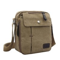 Unisex Canvas Cross Body Bag Men' s Multifunctional Canv...