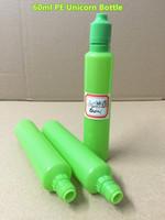 60ml Pure Green PE Unicorn Bottle E- cig Plastic Dropper Bott...
