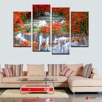 2016 Новый Stytle 4 шт Mangrove с водопадом Современные стены дома Декор Холст Изображение Art HD печати Картина для жизни декор комнаты