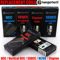 Authentique Kangertech SSOCC Vertical OCC Bobine de rechange Ni200 0,15 0,2 0,5 1,2 1,5 ohm Sub Bobines Kanger Sous-coque mini nano plus atomiseur DHL